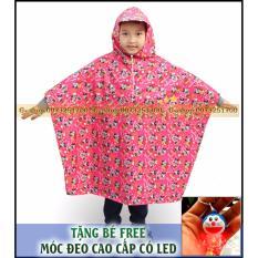 Hình ảnh Áo mưa siêu nhẹ trẻ em cao cấp GSHOP (RED) : Siêu nhẹ - Ngộ Nghĩnh + Tặng FREE móc khóa phát sáng