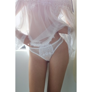 Áo ngủ sexy trễ vai tay dài CDAN30 Kim Phát - Trắng - Size M thumbnail