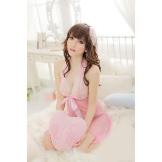 Áo ngủ yếm ren thắt nơ CDAN25 Kim Phát (hồng) thumbnail