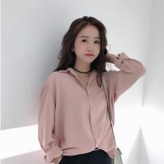 Áo Sơ Mi Nữ Oversize Cá Tính Tiểu Thanh Shop (màu hồng)