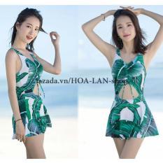 Hình ảnh Áo Tắm 1 Mảnh Lá Cây HLAT025 HOA LAN