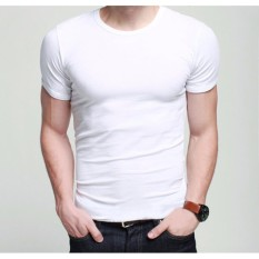 Áo thun cổ tròn nam giá rẻ, chất đẹp (màu trắng)