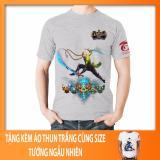 Giá Bán Ao Thun Lien Quan Mobile Tướng Airi Skin Ninja Xanh La Ao Xam In 2 Mặt Tặng Kem Ao Thun Lien Quan Trắng Rẻ