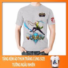 Giá Bán Ao Thun Lien Quan Mobile Tướng Airi Skin Ninja Xanh La Ao Xam In 2 Mặt Tặng Kem Ao Thun Lien Quan Trắng Oem Tốt Nhất