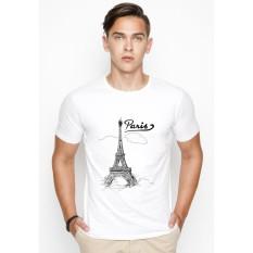 Áo thun nam in hình Paris mây phong cách hàn quốc vải dày mịn AokNAM418
