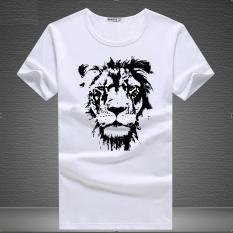 Áo thun nam in mặt sư tử đẹp mắt ( Trắng )