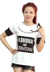 Bán Mua Ao Thun Nữ Form Rộng Phối Ren Thời Trang Trần Doanh D34 Trắng Phối Ren Hồ Chí Minh