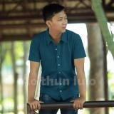 Ao Thun Sơ Mi Nam Flexi Xanh Cổ Vịt Lulo Chiết Khấu 50