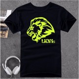Ao Thun Unisex Lion Atb554 Đen Dạ Quang Mới Nhất
