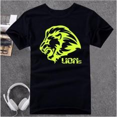 Bán Ao Thun Unisex Lion Atb554 Đen Dạ Quang Nhập Khẩu