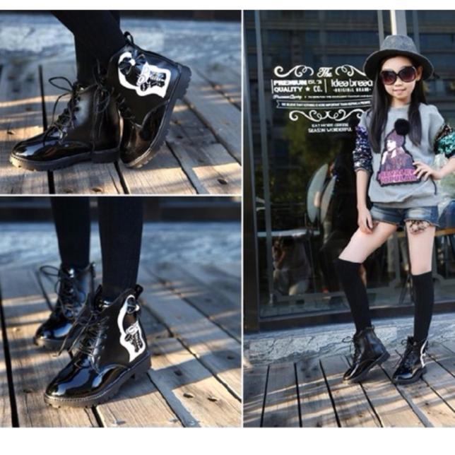 B01DE - Giày bốt thời trang cho bé gái giá rẻ