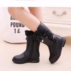 Giá bán B04DE - Giày bốt cao cổ cho bé gái