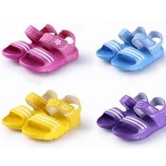 Hình ảnh Baby Boys Girls Ankle Shoes Children Slip-Resistant Wear-Resistant Casual Sandals Sky Blue - intl