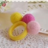 Baby Girl Elastic Hair Rope with Balls Kids Headwear Color Random - intl