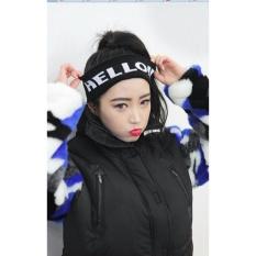 Hình ảnh Băng Đô Thể Thao Vải Len Cho Nam và Nữ - Hello Đen