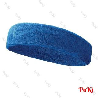 Băng trán thể thao BLUE - Băng quấn trán thấm mồ hôi chơi tennis, cầu lông, thoáng khí, hàng thể thao chuyên dụng cao cấp - POKI thumbnail