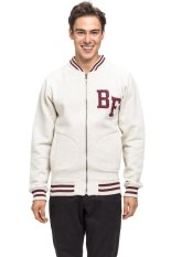 Bán Bellfield Men S Zip Through Baseball Sweatshirt White Trực Tuyến