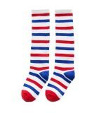 Bigood 1 Pair Baby Kids Autumn Dot Bowknot Long Cotton Knee High Socks #H - intl