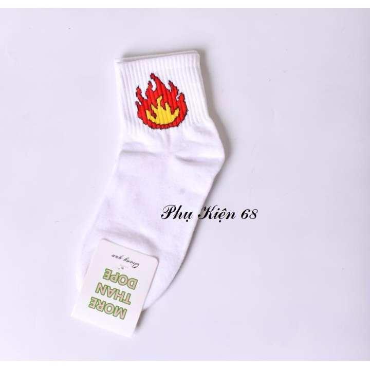 Bộ 01 vớ (tất) lửa Hàn Quốc (màu trắng)