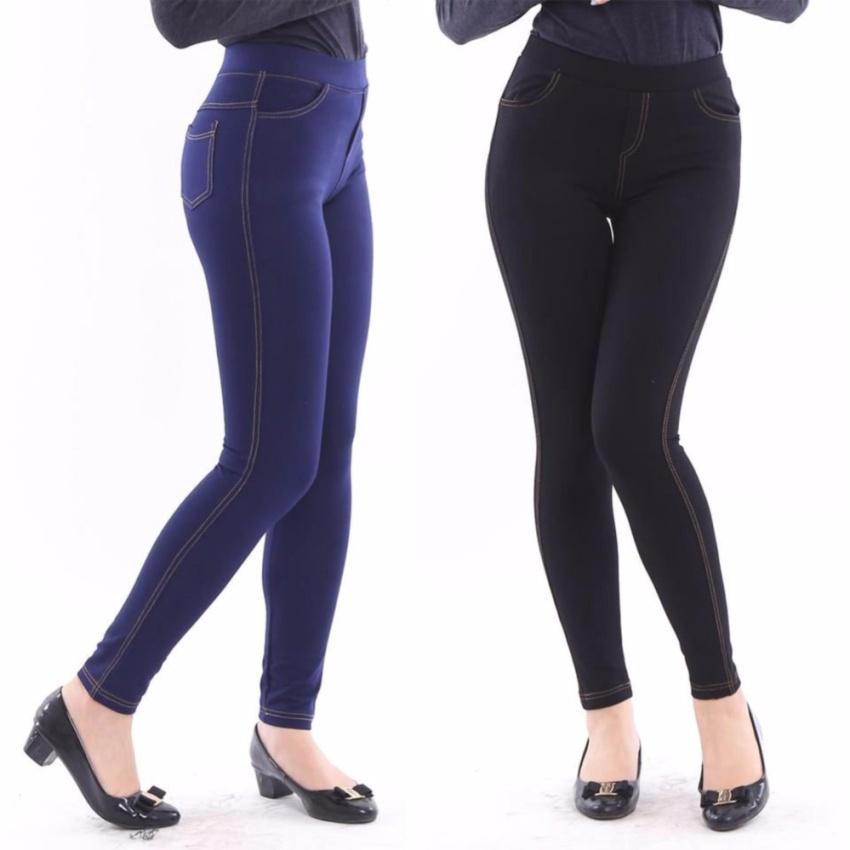 Bộ 02 Quần Legging Giả Jeans Chipxinhxk