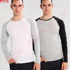 Bộ 2 Ao Thun Body Dai Tay Phối Lados 38 Trắng Xam Lado Fashion Chiết Khấu 50