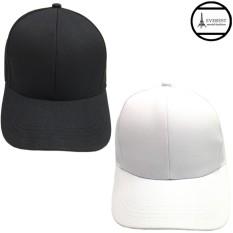 Hình ảnh Bộ 2 nón lưỡi trai unisex thời trang Kabuto H308 (Đen-Trắng)
