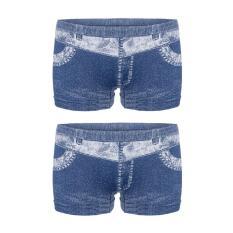Giá Bán Bộ 2 Quần Đui Giả Jeans Akio Wash Jeans Xanh Akio
