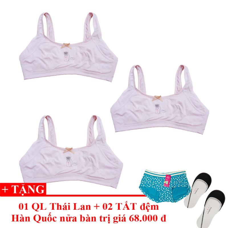 Nơi bán Bộ 3 Áo lót bé gái tuổi mới lớn Thái Lan + Tặng 01 Quần Lót Teen & 02 Đôi Tất - Lybishop