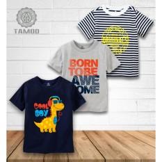 Hình ảnh Bộ 3 áo thun bé trai sành điệu thương hiệu cao cấp TAMOD