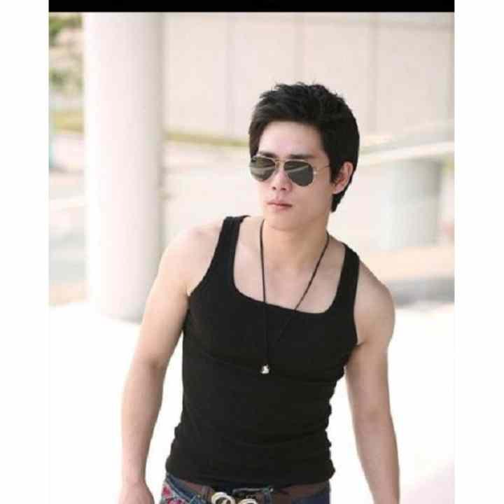 Bộ 3 áo thun nam 3 lỗ cổ vuông body Hàn Quốc ( đen, trắng, xám )