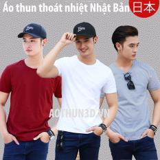 Bán Bộ 3 Ao Thun Nam Thoat Nhiệt Nhật Bản At30 Trắng Đỏ Đo Xam Tieu Oem Nguyên