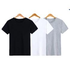 Bộ 3 áo thun trơn nữ form rộng phong cách hàng quốc vải dày mịn Everest (Trắng - Đen - Xám)