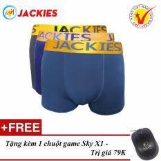 Giá Bán Bộ 3 Quần Boxer Nam Cao Cấp Jackies Bơi Lưng Bong 505 Tặng Chuột Game Sky X1 Mới Nhất