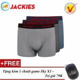 Ôn Tập Bộ 3 Quần Boxer Nam Cao Cấp Jackies Bơi Sọc 907 Tặng Chuột Game Sky X1 Jackies