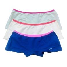 Hình ảnh Bộ 3 quần lót đùi bé gái Cotton 100% thun kẹp lotbe