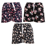 Mã Khuyến Mại Bộ 3 Quần Shorts Đui Chun Nữ Hoa Nhi Sociustore 3Wm Shorts 013C A B D Rẻ