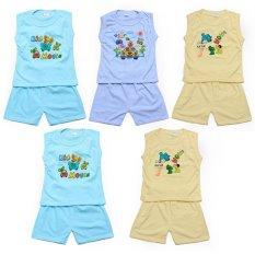 Hình ảnh Bộ 5 đồ bộ mùa hè cho bé