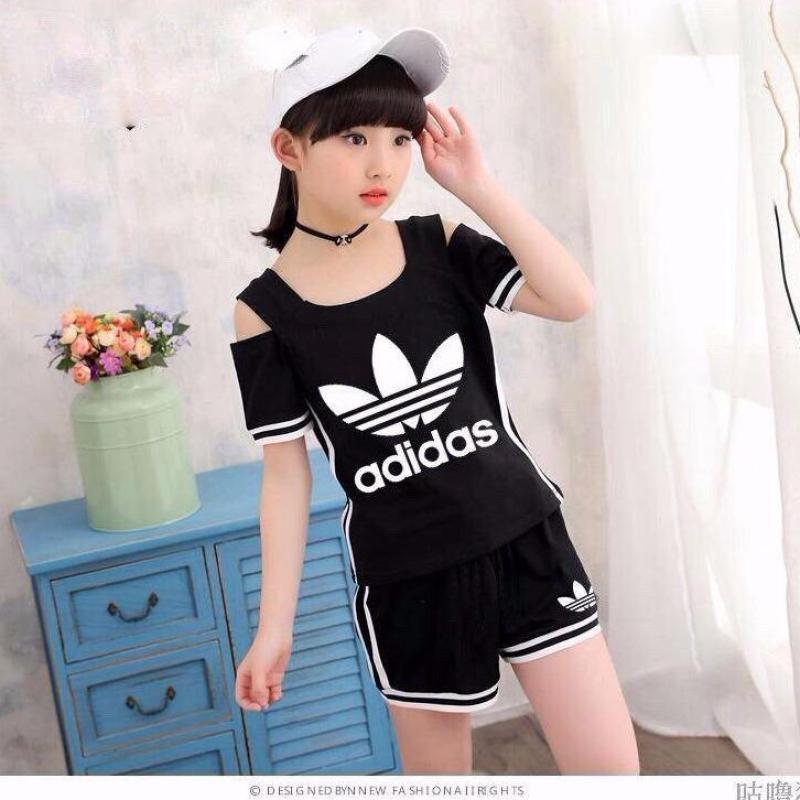 Nơi bán Bộ bé gái khoét vai phong cách thể thao hàng hè xinh mát 9-42kg