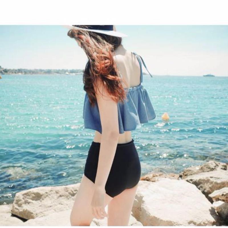 Nơi bán Bộ bikini 2 mảnh phối vạt bèo cực xinh (SIZE L)