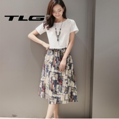 Giá Bán Bộ Đầm Kem Ao Ngắn Thời Trang Phong Cach Tlg 206393 Rẻ