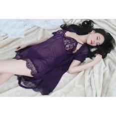 Bán Bộ Đầm Ngủ Kem Ao Voan Lưới Cao Cấp Thời Trang Zavans Tim Sẫm Rẻ Nhất