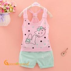 Giá bán Bộ đồ bé gái mùa hè bộ quần áo bé gái đẹp GLSET008-xanhngoc