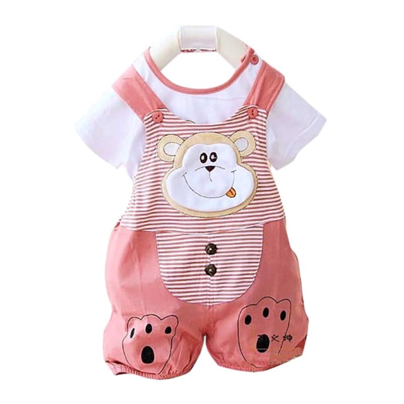 Nơi bán Bộ đồ hình thú có áo phông đi kèm cho bé gái Family Shop BHT02 (Hồng)