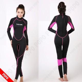 Bộ đồ lặn, quần áo lặn biển cho NỮ SEAC 2.5mm giữ ấm, thoáng khí, chống thầm nước cao cấp POPO Sports thumbnail