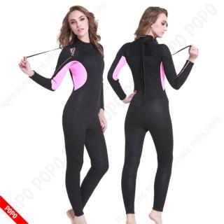 Bộ đồ lặn, quần áo lặn biển cho NỮ 3mm giữ ấm, thoáng khí, chống thầm nước cao cấp POPO Collection thumbnail