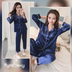 Cửa Hàng Bộ Đồ Pijama Nữ Quần Dai Kymisexy Xanh None Trong Vietnam