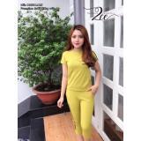 Giá Bán Bộ Mặc Nha Nữ Theu Chữ Adidas Mau Vang Hoa Cải Vietnam