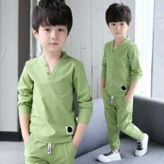 Đồ bộ dài tay cho bé trai 6 tuổi đến 10 tuổi chất cotton da cá( Màu Xanh dương- Xanh đậm- Xanh lá) Nhật Bản