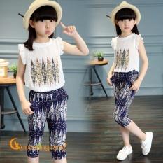 Bộ quần áo bé gái voan xốp bộ đồ bé gái đẹp GLSET004