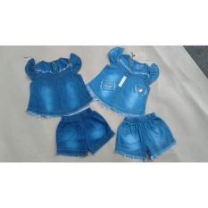Giá bán Bộ quần áo cho bé gái - Hoạ tiết rớt vai- mã BDA004(SIZE 1-8)